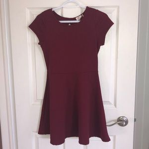 Maroon a line dress